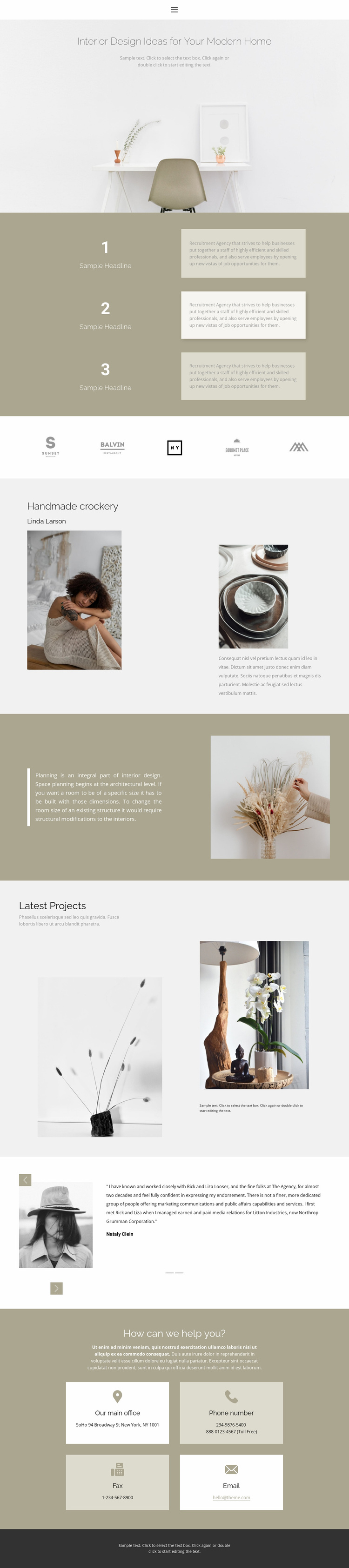 A company that creates coziness Website Template