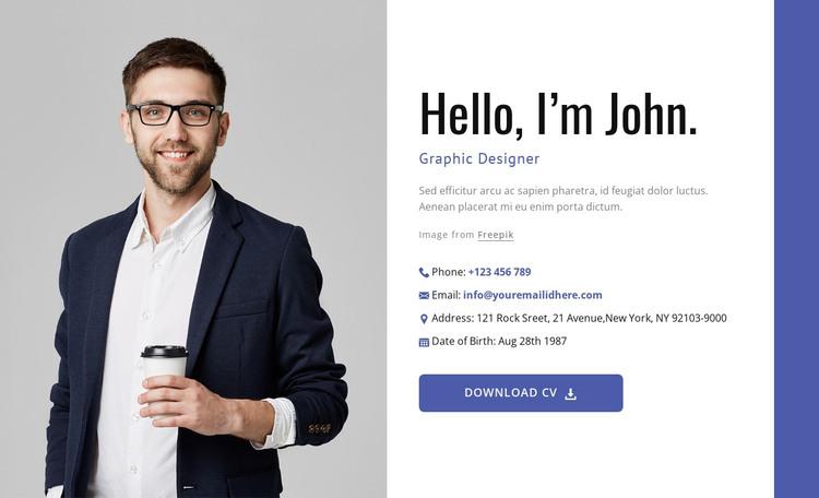 I create amazing websites HTML Template