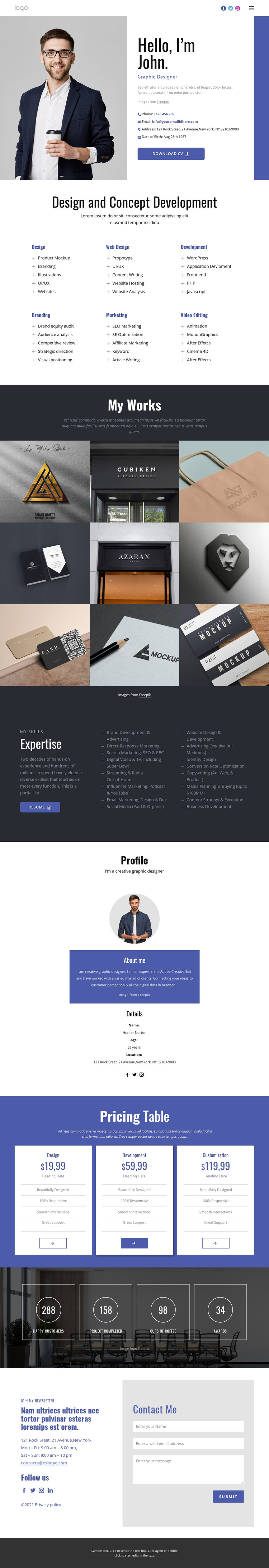 Conceptual design Web Design