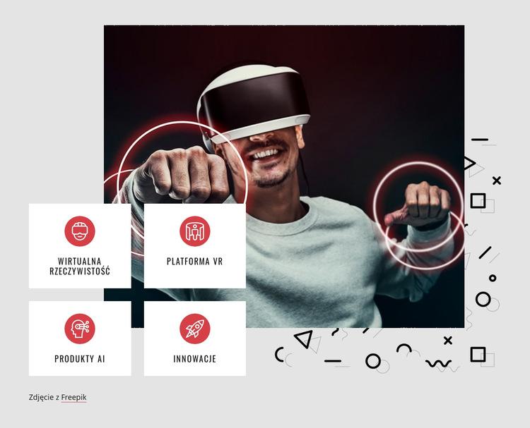 Platforma VR Szablon witryny sieci Web