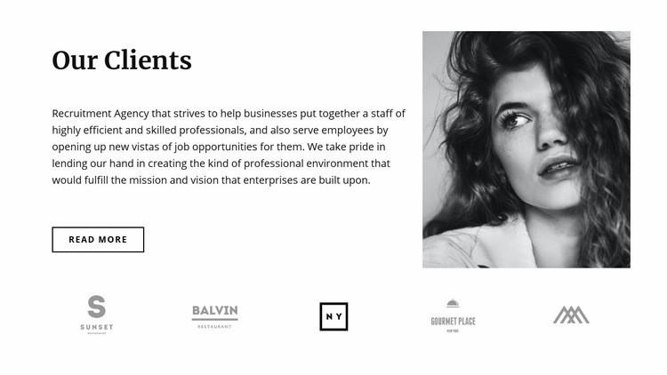 Our favorite clients Web Page Design