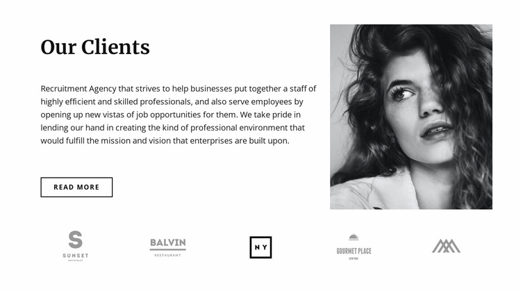 Our favorite clients Website Template