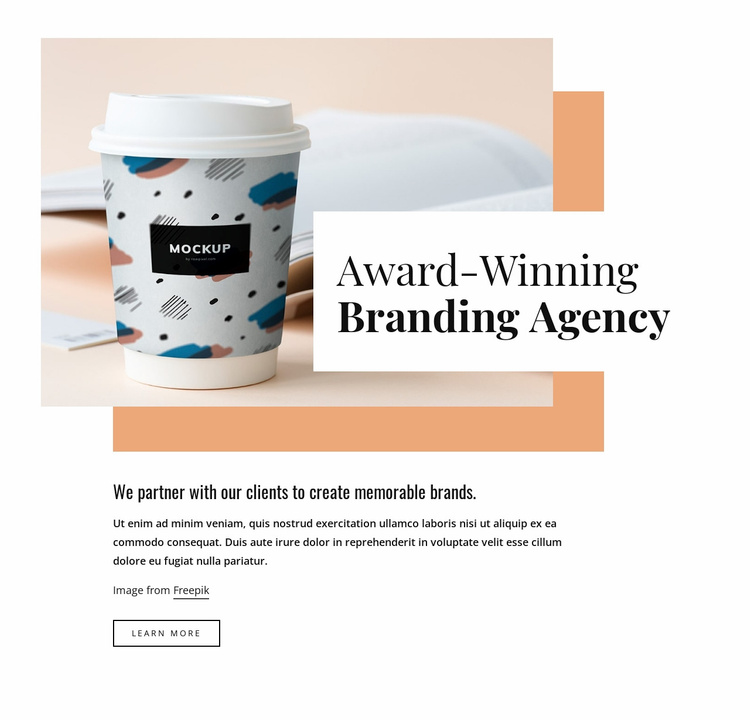 Brand and packaging design Website Template