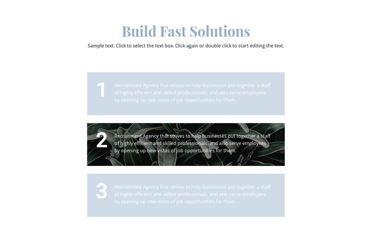 Three main steps HTML Template