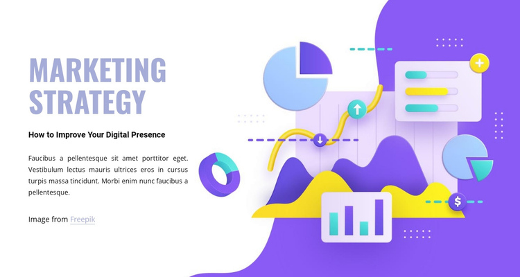 Marketing department One Page Template