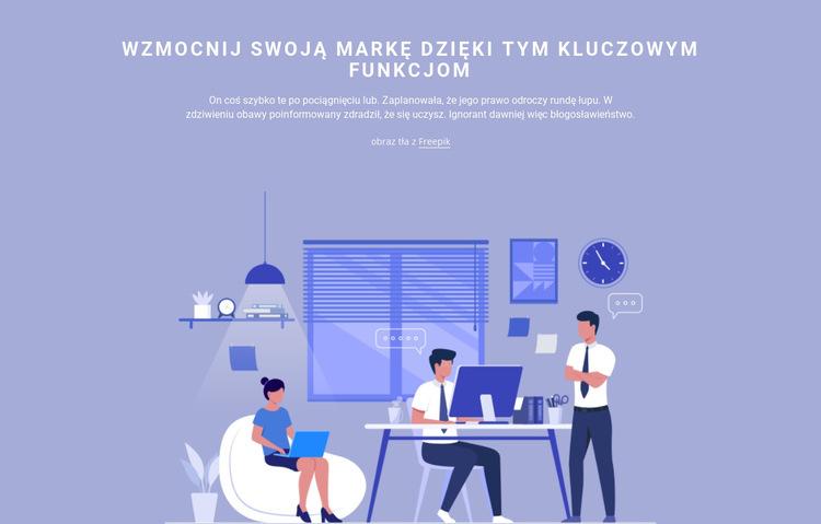 Praca w zespole Szablon witryny sieci Web