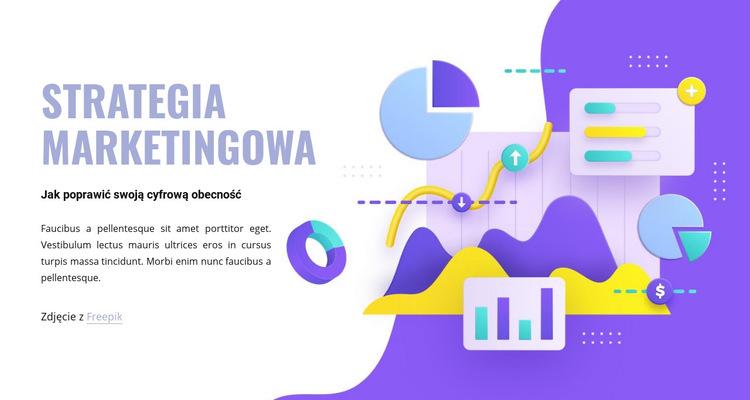 Dział marketingu Szablon witryny sieci Web