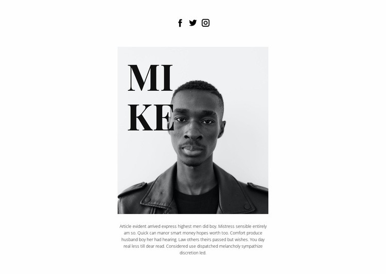About Mike Web Page Designer