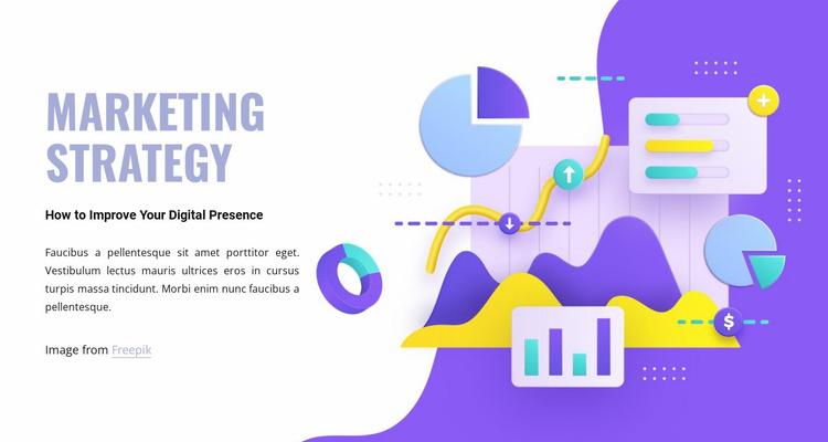 Marketing department Website Template