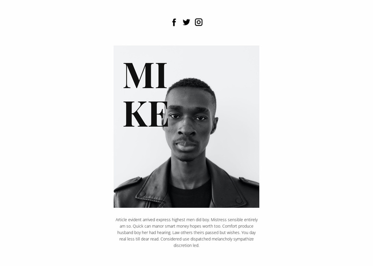 About Mike Website Template