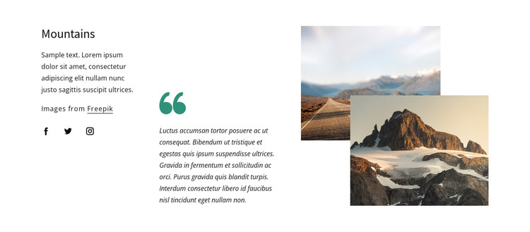 Great mountains HTML Template