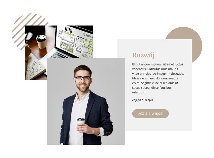 Firma zajmująca się tworzeniem stron internetowych Szablon witryny sieci Web