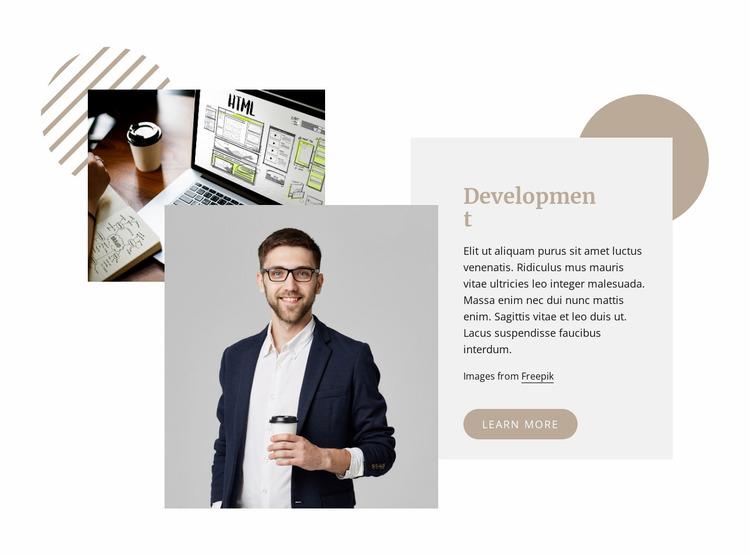 Web development company Website Mockup