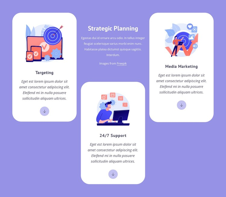 Targeting and media marketing CSS Template