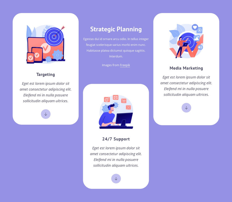 Targeting and media marketing HTML Template