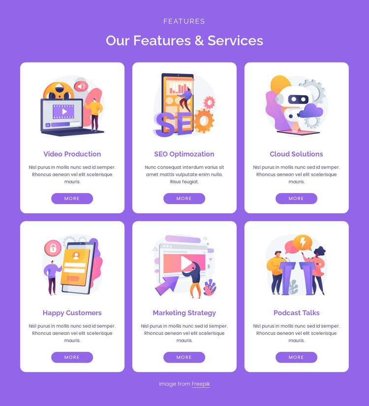 Our digital services HTML Template