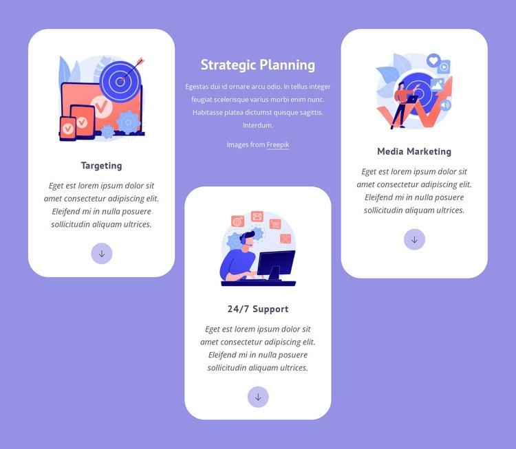 Targeting and media marketing Web Page Designer