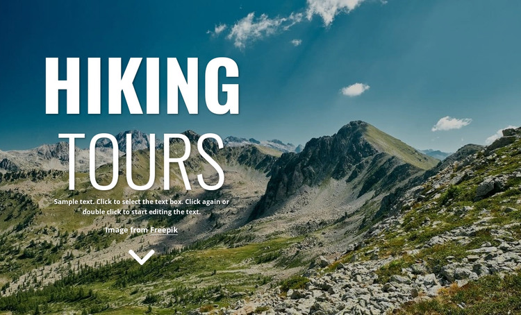 New walking holidays HTML Template