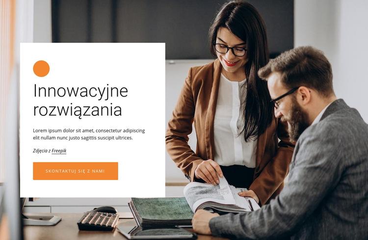 Innowacyjne rozwiązania biznesowe Szablon witryny sieci Web