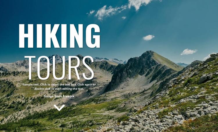 New walking holidays Website Mockup