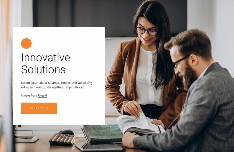 Innovative business solutions Website Mockup