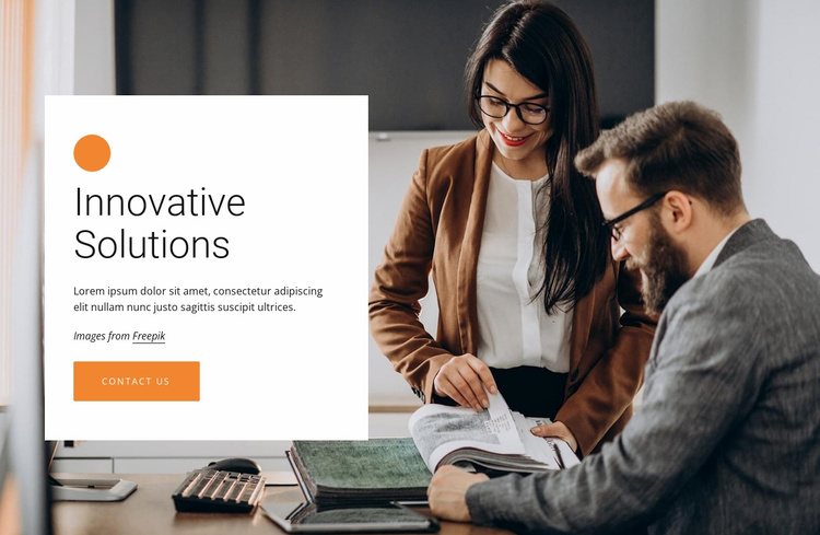 Innovative business solutions Website Template
