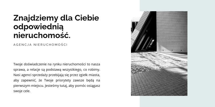 Obraz i kształt tekstu Szablon witryny sieci Web