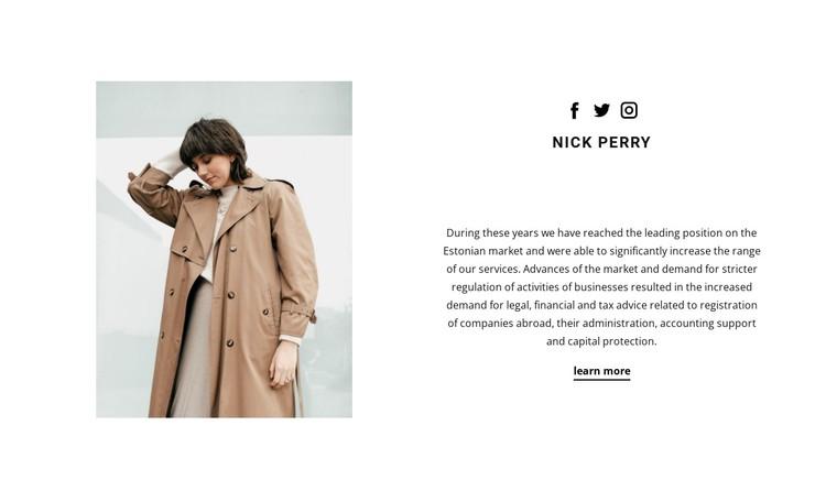 Online stylist CSS Template