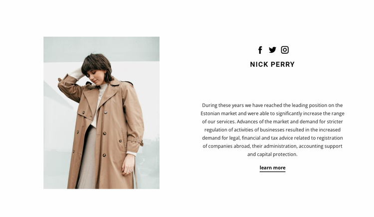Online stylist Website Template