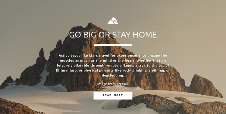 Everybody wants to reach the peak HTML Template