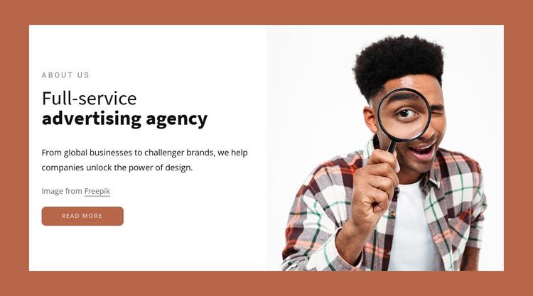 Full-service advertising agency HTML Template