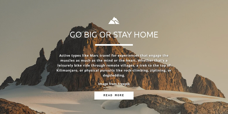 Everybody wants to reach the peak Website Template