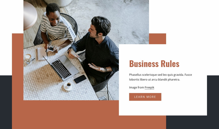 Business rules Website Template