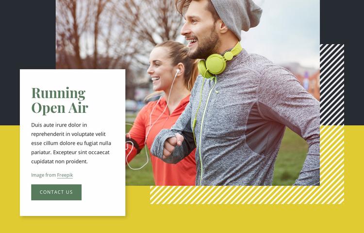 Running open air Website Template