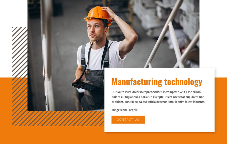 Manufacturing technology HTML Template