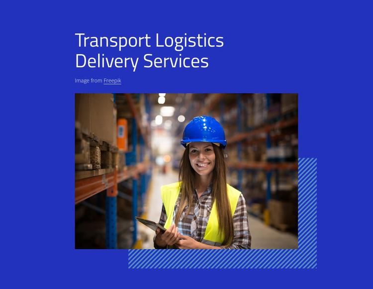 Transport logistics services Website Template