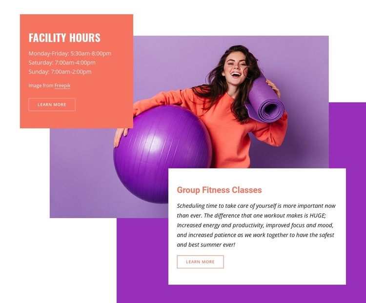 Aquatic and fitness center Html Code Example