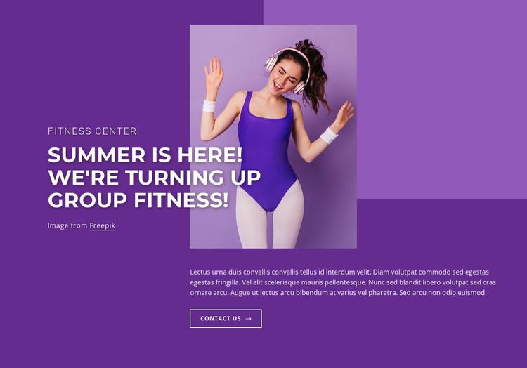 Cycling, dance, pilates HTML Template