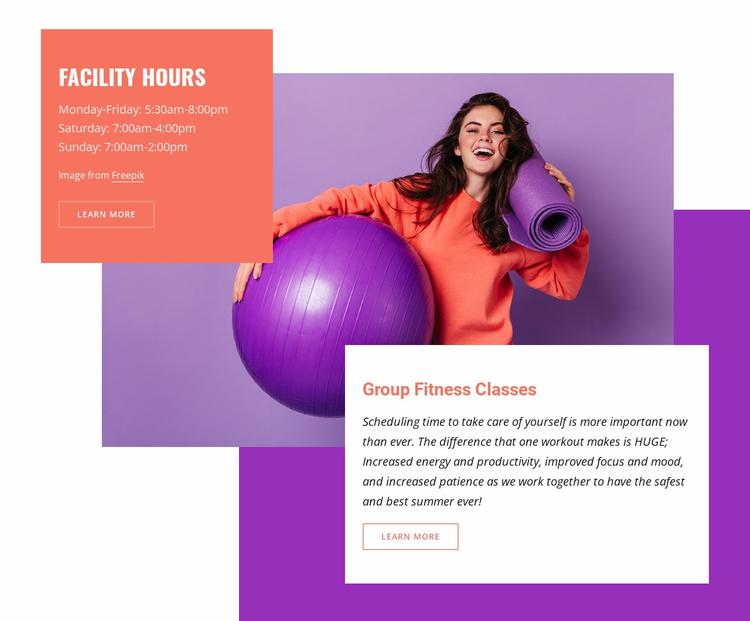 Aquatic and fitness center Website Template