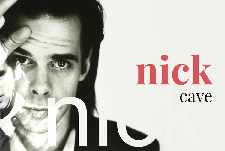 Nicholas Edward Cave Website Template