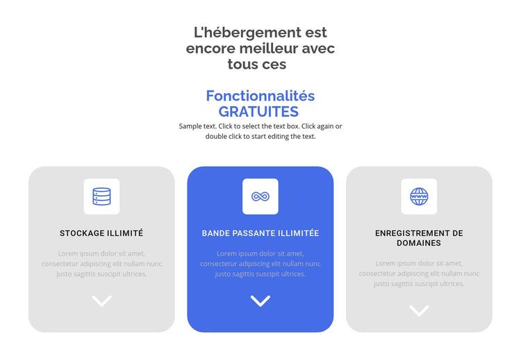 Nouvelles fonctionnalités gratuites Modèle de site Web