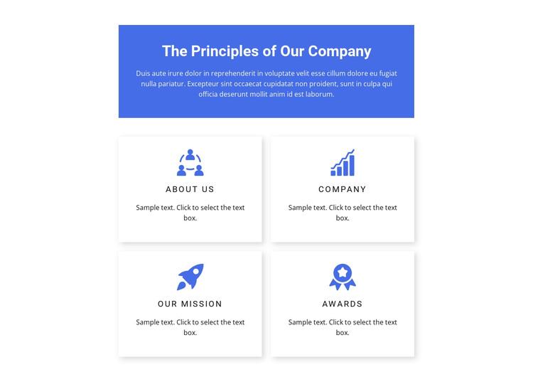 Work principles HTML Template