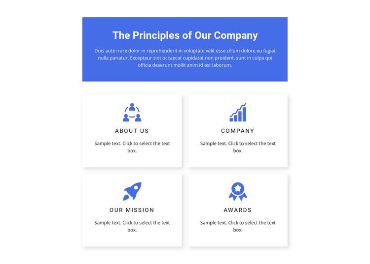 Work principles Joomla Template