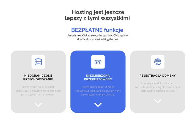 Nowe bezpłatne funkcje Szablon witryny sieci Web