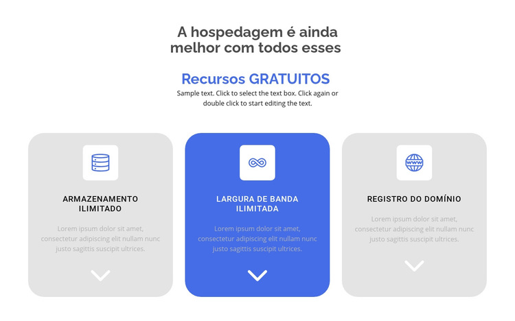 Novos recursos gratuitos Modelo de site