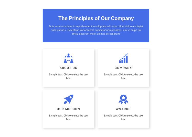 Work principles Website Builder Software
