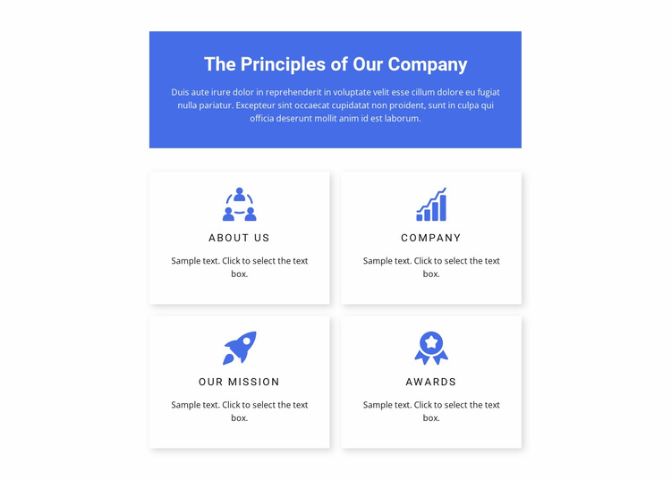 Work principles Website Design