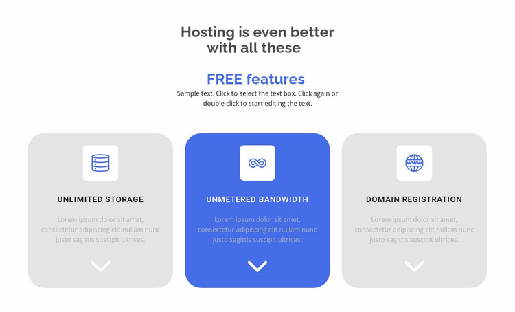 New free features Website Mockup