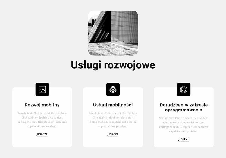 Nowe usługi programistyczne Szablon Joomla