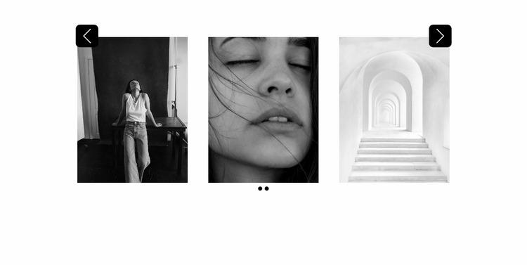 Slider with beautiful photos Website Mockup